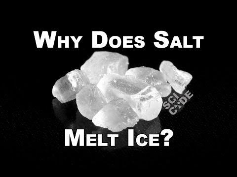 Με πολύ απλά λόγια πως το αλάτι λιώνει τον πάγο ή δεν αφήνει το νερό να παγώσει