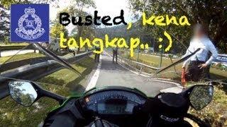 Karak Malaysia  City new picture : Police PDRM motorcycle roadblock @ gombak toll, karak malaysia