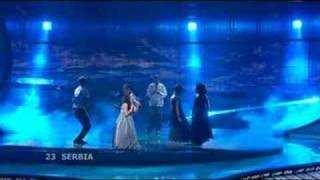 Serbia's entry live at the Eurovision song contest 2008 Final. Jelena Tomasevic feat Bora Dugic - Oro.
