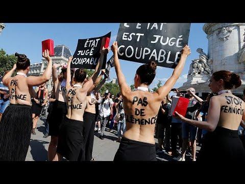 «Αρκετά» φώναξαν διαδηλωτές στο Παρίσι κατά της φονικής ενδοοικογενειακής βίας…