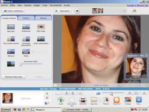 Video 2 de Picasa: Retoque de imágenes fotográficas