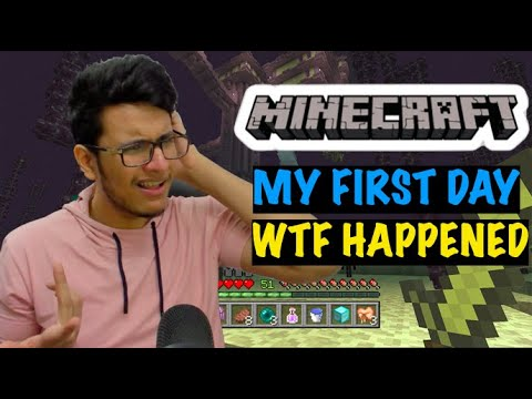 Beginning my Minecraft Journey but Everything Went Wrong on Day 1 itself