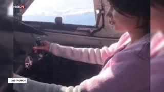 Полиция проверяет видео, на котором девушка управляет Ан-24 предположительно «ИрАэро»