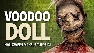 Voodoo doll special fx makeup tutorial - YouTube