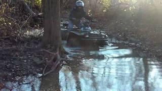 4. Arctic Cat 500 4x4 Going Through Creek