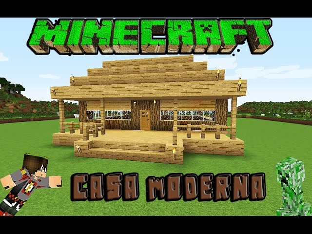 Minecraft casa moderna de madera facil tutorial 1 8 1 for Casa moderna 10x10 minecraft