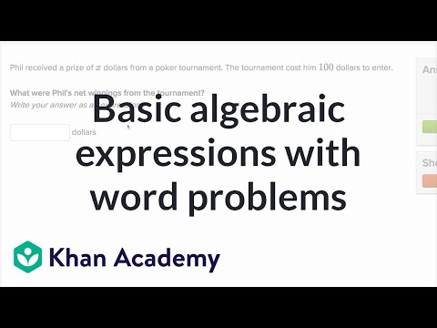 Writing Basic Expressions Word Problems Video Khan Academy