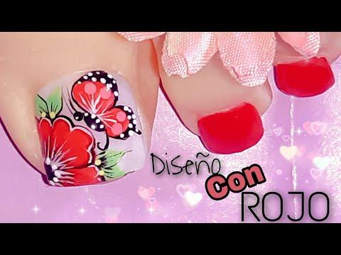 Uñas decoradas - Decoración de Uñas en color rojo/Diseño de uñas rojas