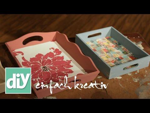 Holztablett aufpeppen | DIY einfach kreativ