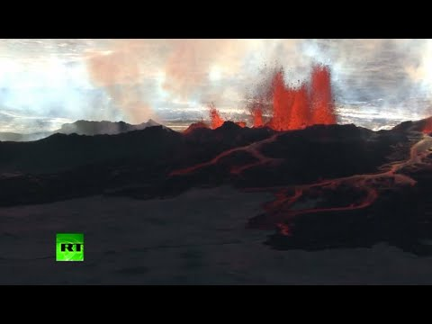 footage - The alert warning for the area surrounding Iceland's Bardarbunga volcano was kept at orange on Tuesday, indicating that it is showing increased unrest with greater potential for an eruption....