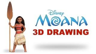 Video 3D Drawing | Moana Character | Disney's Moana Movie | Speed Art | Art Talent download in MP3, 3GP, MP4, WEBM, AVI, FLV Februari 2017