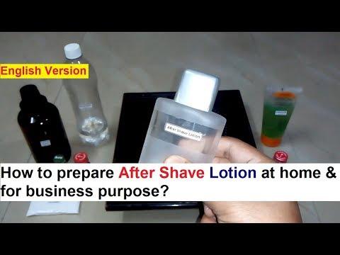 After Shave Lotion Making 100% Real Formula