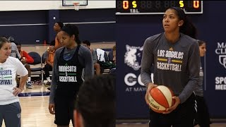 Lynx and Sparks Practice Leading into Game 5 by WNBA