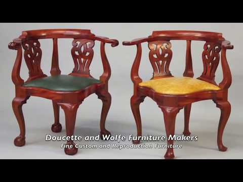 Corner Chair handmade by Doucette and Wolfe Furniture Makers
