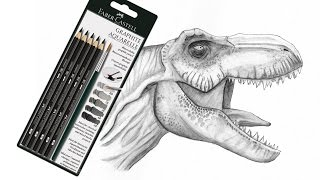 Graphite Aquarelle review whilst drawing a T rex.I recently purchased some Faber Castell Graphite Aquarelle pencils on ebay for pretty cheap so I decided I would do a little review on them for anyone interested, although reviews can be a little boring, so I decided to draw a T-rex in this traditional medium, I thought that might make it a little more interesting because.... well, T-rex are bad ass. I was inspired by the new Jurassic World film :)The lighting wasn't all that great for recording pencil and paper but as the video goes on and I darken the pencils up a bit, it starts to get a little clearer. Hopefully you will enjoy my thoughts and ramblings whilst I draw this T rex. The paper I used was Daler and Rowney smooth water colour aquarelle paper.Thanks for watching :) Please check out my pages below. Also please do show your support by liking and sharing my page with your friends. Thanks!facebook- http://facebook.com/learningasidrawdeviantart-  http://learningasidraw.deviantart.comtwitter- http://twitter.com/learningasidrawblog- http://learningasidraw.blogspot.co.uk