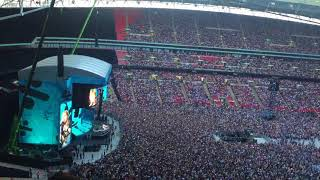 Ed Sheeran - intro's & banter @ Wembley Stadium Thursday June 14th 2018 (with Andrea Bocelli!)