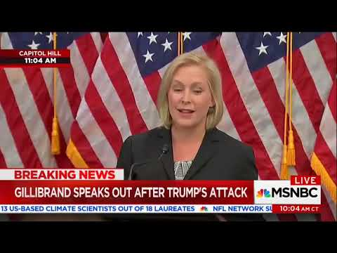 Senator Gillibrand Trump is Trying to Silence Me ... With 'Sexist Smear' Tweet
