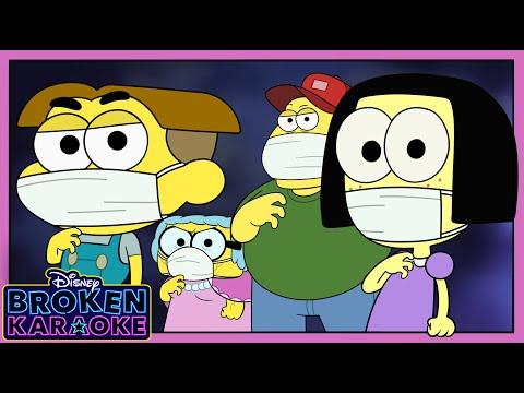 ZOMBIES 2 Flesh & Bone Parody 💥 | Stuck At Home | Broken Karaoke | Big City Greens | Disney Channel