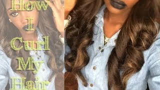 How To Curl SYNTHETIC Hair   Dollar Tree Flexi Rods!