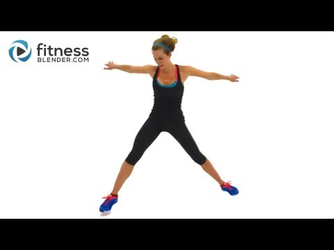 Fat Burning Cardio Workout for Butt and Thighs with Yoga Cool Down – 27 Min Interval Cardio Training