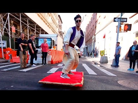 Aladdin Magic Carpet On Street :)