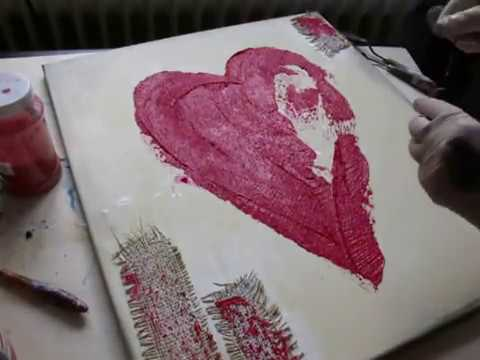 Painting mit Acryl   malen  mit Lisy  ( Herzbild)