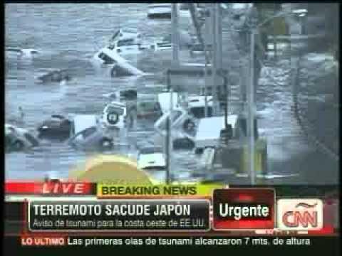 Terremoto en japon 8.9 ricther causo tsunami que llego hasta tokyo.