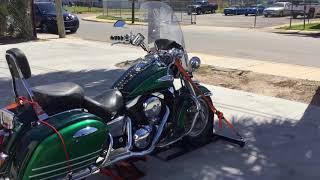 7. 1999 Kawasaki Vulcan Nomad VN1500G (green-black) 2125 Fallen Cycles