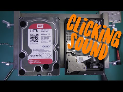 recovering hard drives with clicking sounds
