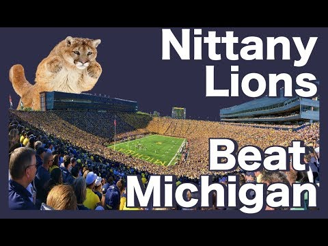 Penn State Beating Michigan - Highlights from every Nittany Lion win from 1994-2017