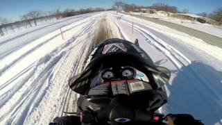9. Carving and hitting big jumps on my 2005 Polaris 700 XC