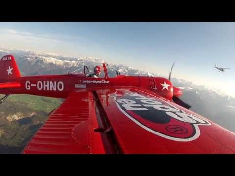 Airshow - The Yak 55, based in Austria is flown by the Austrian Johann Fesl. The fully EASA certified and british registered G-OHNO, built in 1990 is the only one flyi...