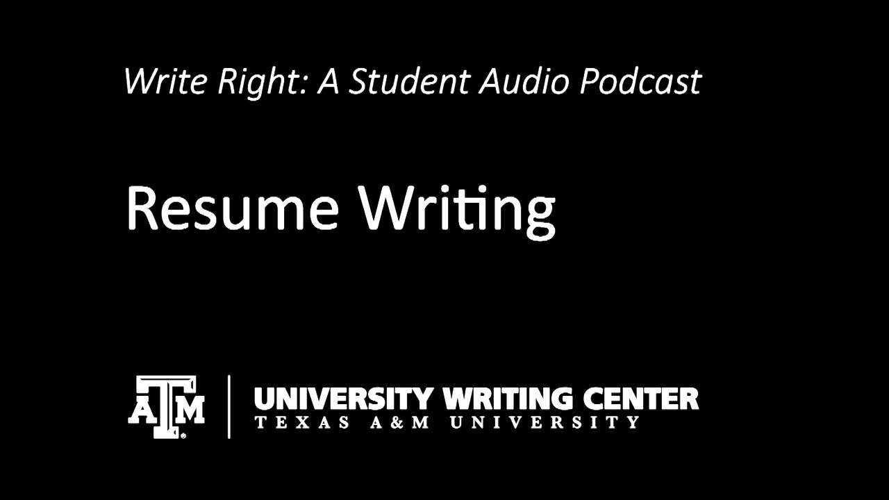 university writing center resumes