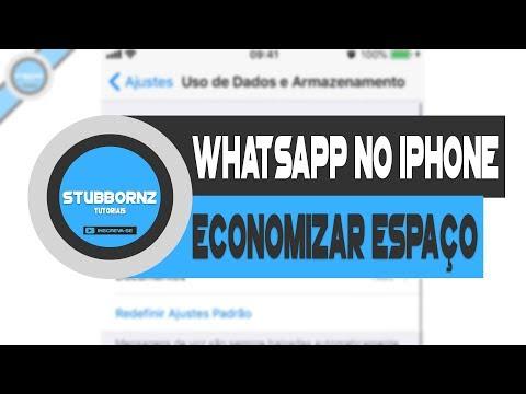 Baixar whatsapp - Como economizar espaço desativando download automatico do whatsapp   iPhone