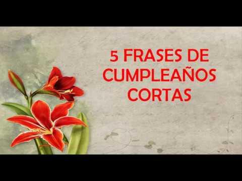 Frases cortas - 5 Frases De Cumpleaños Cortas Para Dedicar, Feliz Cumpleaños