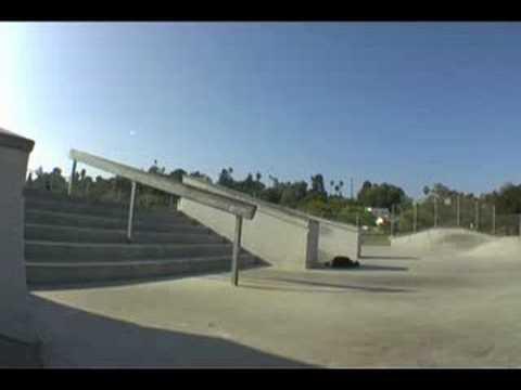 Highland park Skatepark 6 stair rail