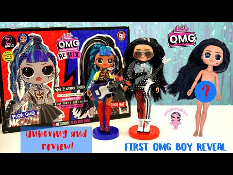 LOL Surprise OMG Remix Rocker Boi and Punk Grrrl 2 Pack Full Unboxing and Review First OMG Boy