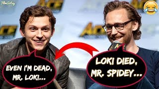 Video Tom Holland and Tom Hiddleston Makes Fun of Each Other - Avengers: Infinity War 2018 MP3, 3GP, MP4, WEBM, AVI, FLV Oktober 2018
