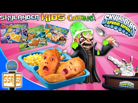 SKYLANDERS SPECIAL REPORT #1:  Kid Cuisine Meals!!  (Kaos Just Wants To Be On TV)