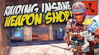 RAIDING INSANE WEAPON SHOP! - Rust Solo Survival Gameplay