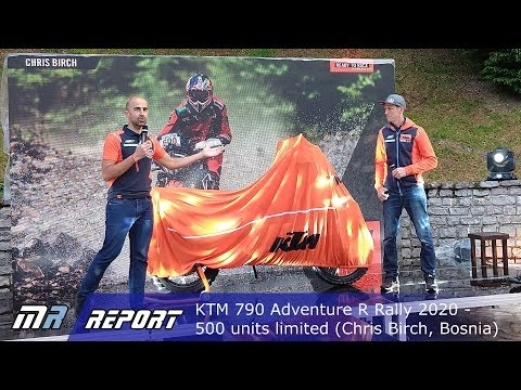 World Premiere KTM 790 Adv R Rally 2020, 500 Units Limited Shown By Chris Birch At Bosnia