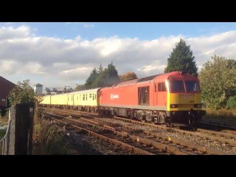 DB Schenker 60092 with Network Rail Breakdown Train at He...