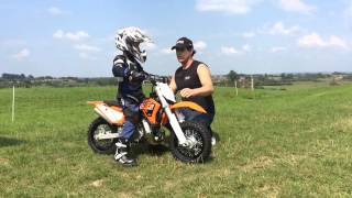 10. First ride on my KTM Mini 50