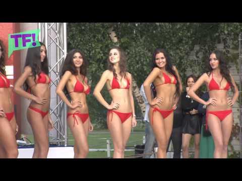 Miss Bikini Russia is SEXY in teeny-weenie red bikini
