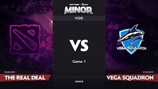 [RU] The ReaL DeaL vs Vega Squadron, Game 1, EU Qualifiers, StarLadder ImbaTV Dota 2 Minor