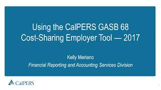CalPERS GASB 68 Employer Tool Instructions – 2017