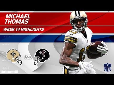 Video: Michael Thomas' 10 Grabs, 117 Yards & 1 TD | Saints vs. Falcons | Wk 14 Player Highlights