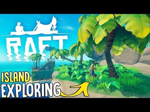 Raft - Island Exploring Adventure! - Tree Seeds, Bolts & Rare Resources - Raft Gameplay Part 3 (видео)