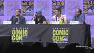 Check out these season 2 secrets the cast snuck out during the panel.Dirk Gently's Holistic Detective Agency returns to BBC America THIS FALL for a new case!Subscribe now: http://bit.ly/1aP6Fo9Twitter: http://twitter.com/dirkgentlybbcaFacebook: http://www.facebook.com/dirkgentlybbcaInstagram: http://instagram.com/dirkgentlybbcaSnapchat: http://snapchat.com/add/bbcamerica_tvTumblr: http://bbcamerica.tumblr.comLEARN MORE: http://www.bbcamerica.com/shows/dirk-gentlys-holistic-detective-agency