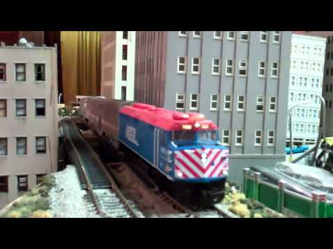 ho scale - Set to HD for best viewing quality. I took my HO scale metra equipment to my freinds HO scale layout. He has a very big modular layout set up in his basement...